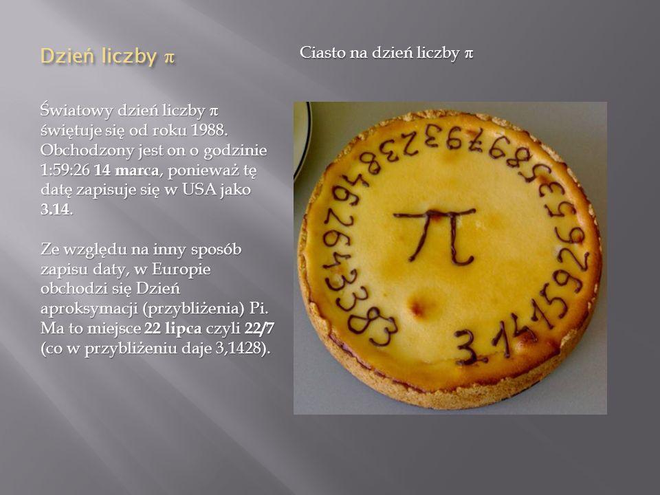 Dzień liczby π Ciasto na dzień liczby π
