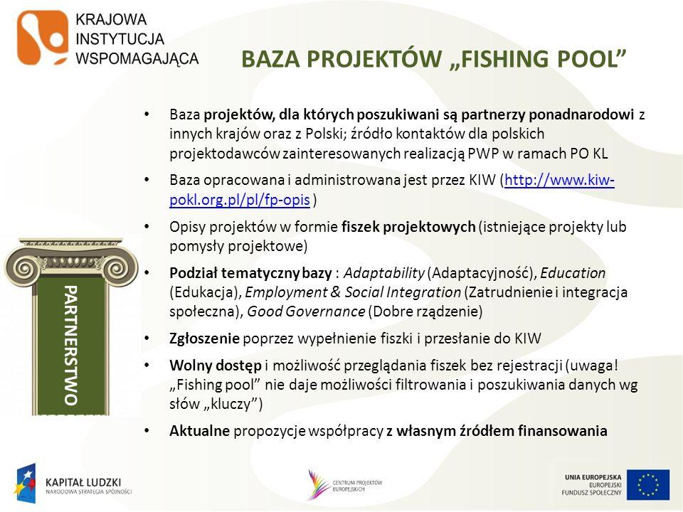"BAZA PROJEKTÓW ""FISHING POOL"