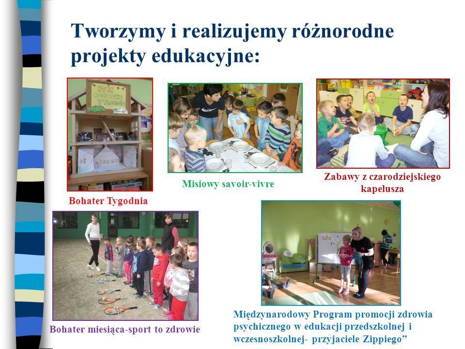 Tworzymy i realizujemy różnorodne projekty edukacyjne: