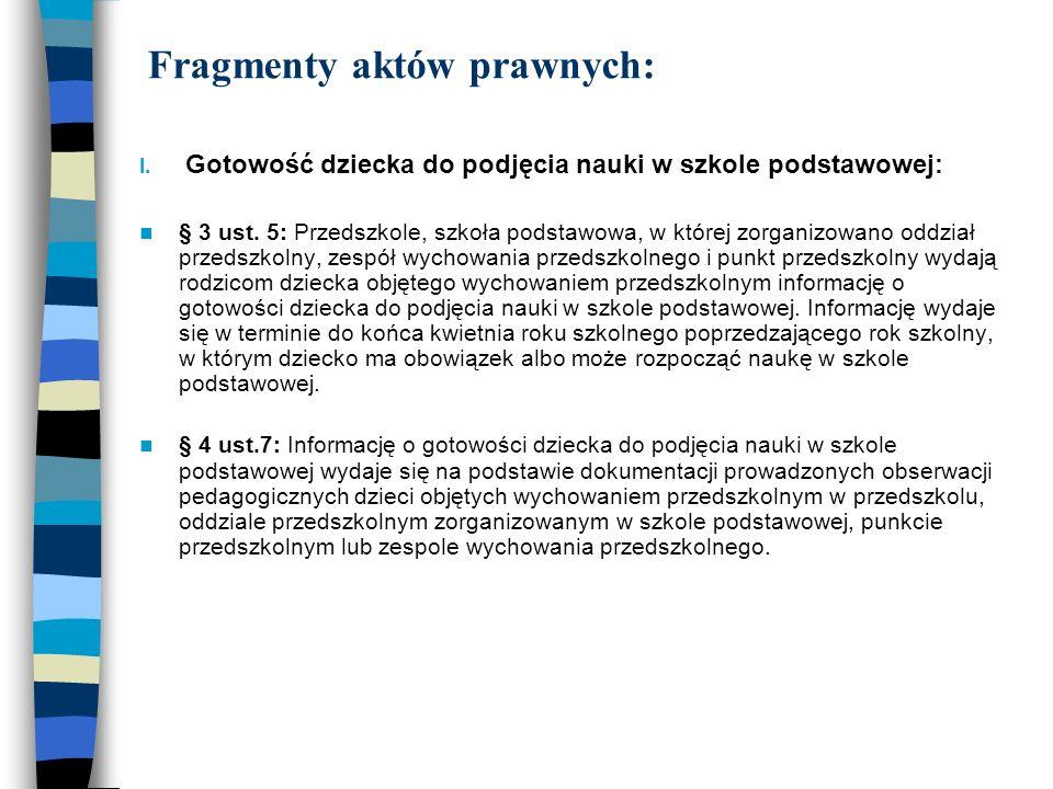 Fragmenty aktów prawnych: