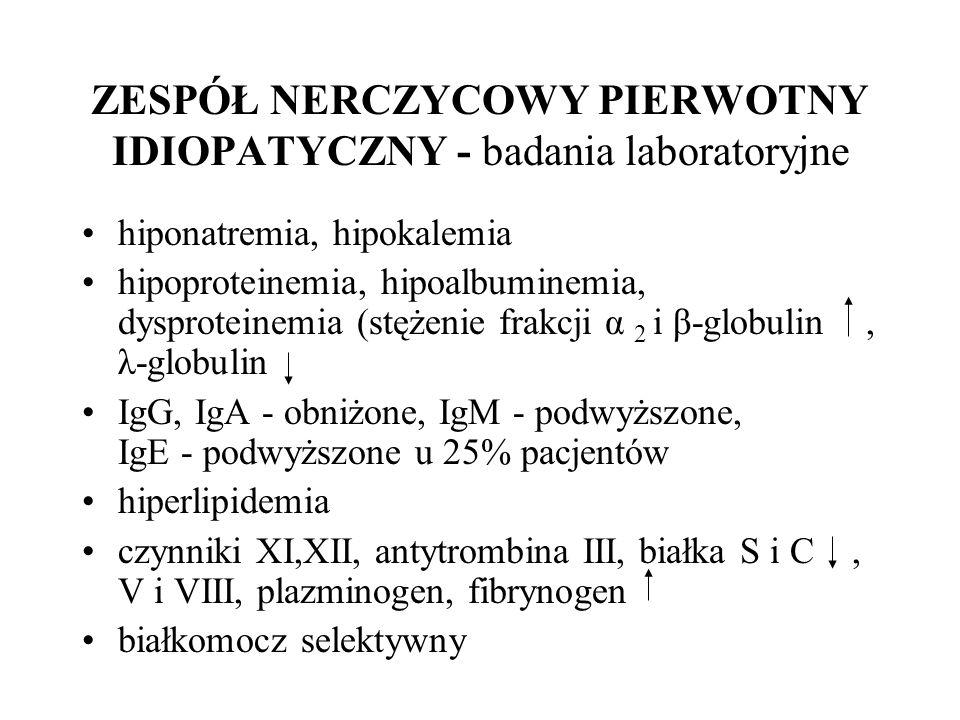 ZESPÓŁ NERCZYCOWY PIERWOTNY IDIOPATYCZNY - badania laboratoryjne