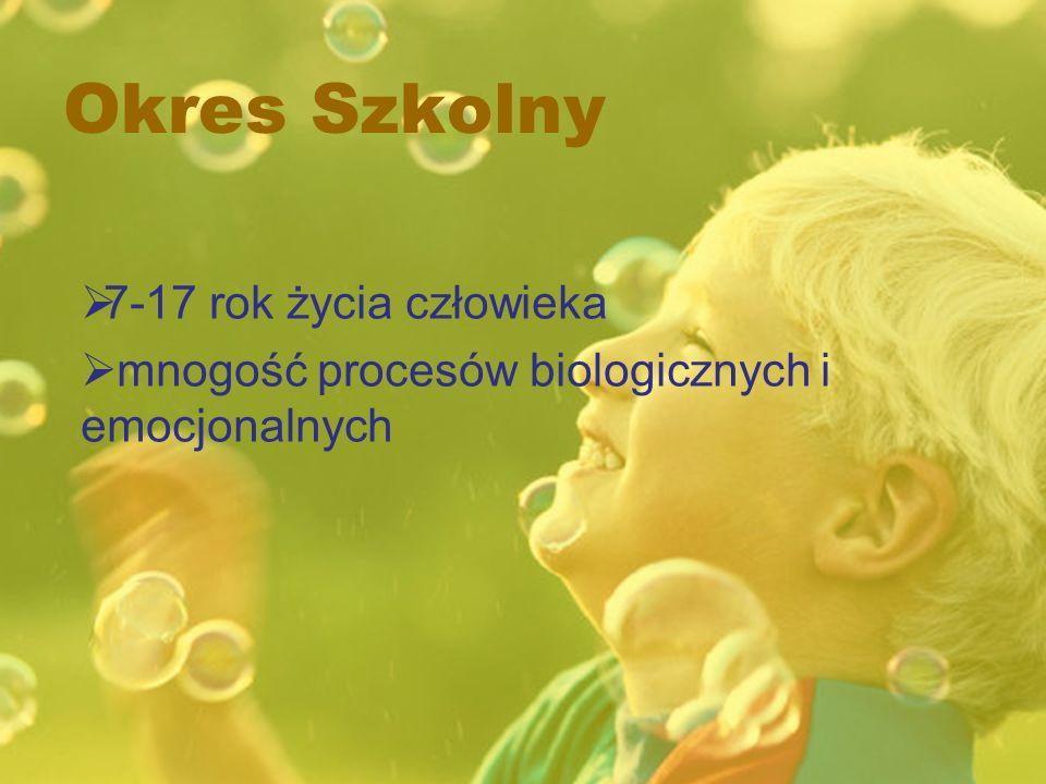 Okres Szkolny 7-17 rok życia człowieka