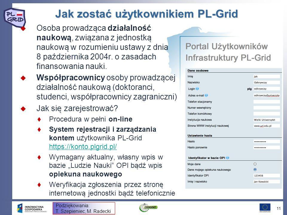 Jak zostać użytkownikiem PL-Grid