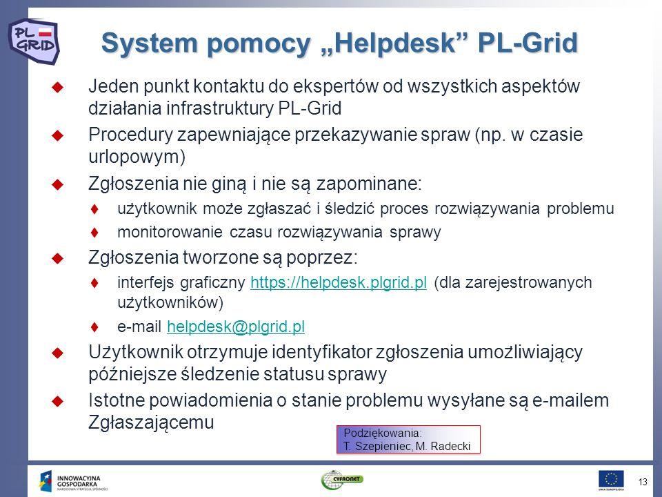 """System pomocy """"Helpdesk PL-Grid"""