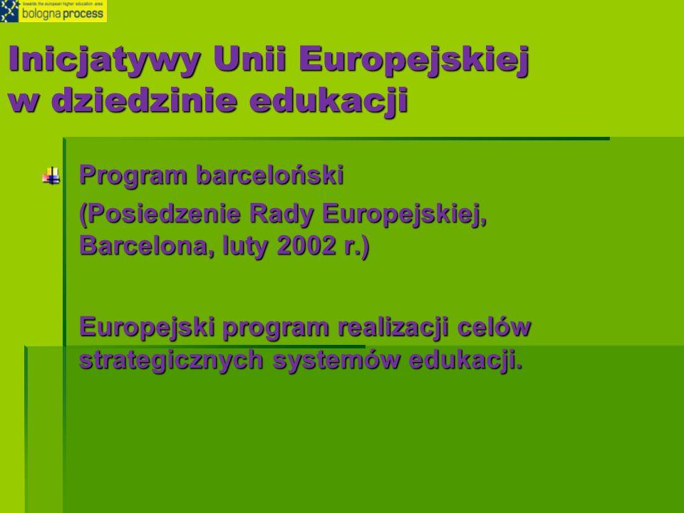 Inicjatywy Unii Europejskiej w dziedzinie edukacji