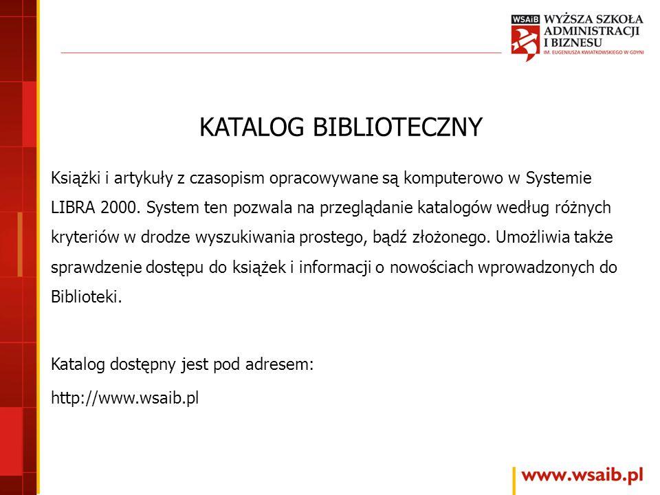 KATALOG BIBLIOTECZNY