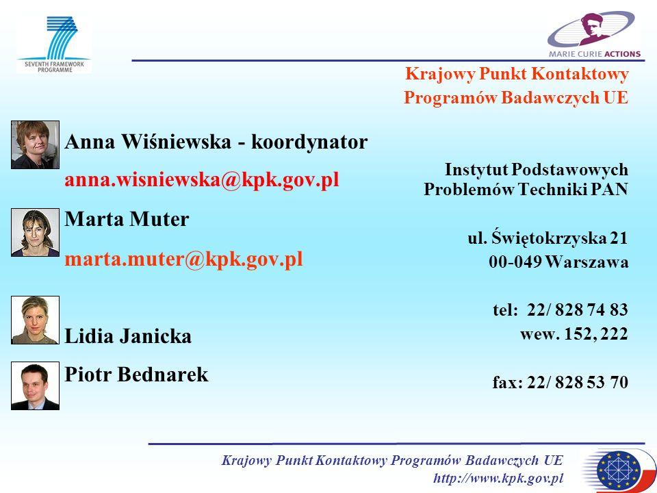 Anna Wiśniewska - koordynator anna.wisniewska@kpk.gov.pl Marta Muter