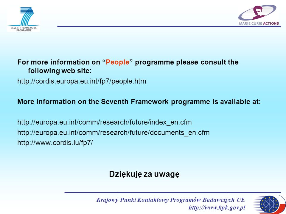 For more information on People programme please consult the following web site: