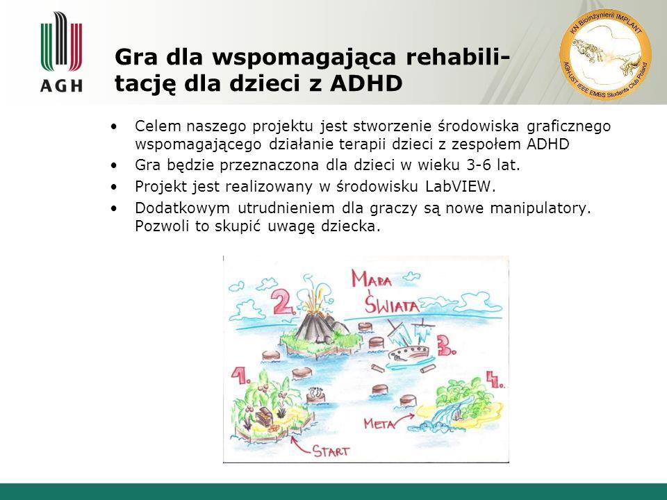 Gra dla wspomagająca rehabili- tację dla dzieci z ADHD