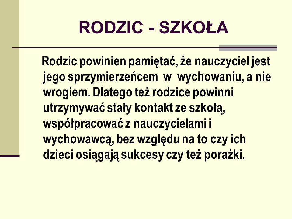 RODZIC - SZKOŁA