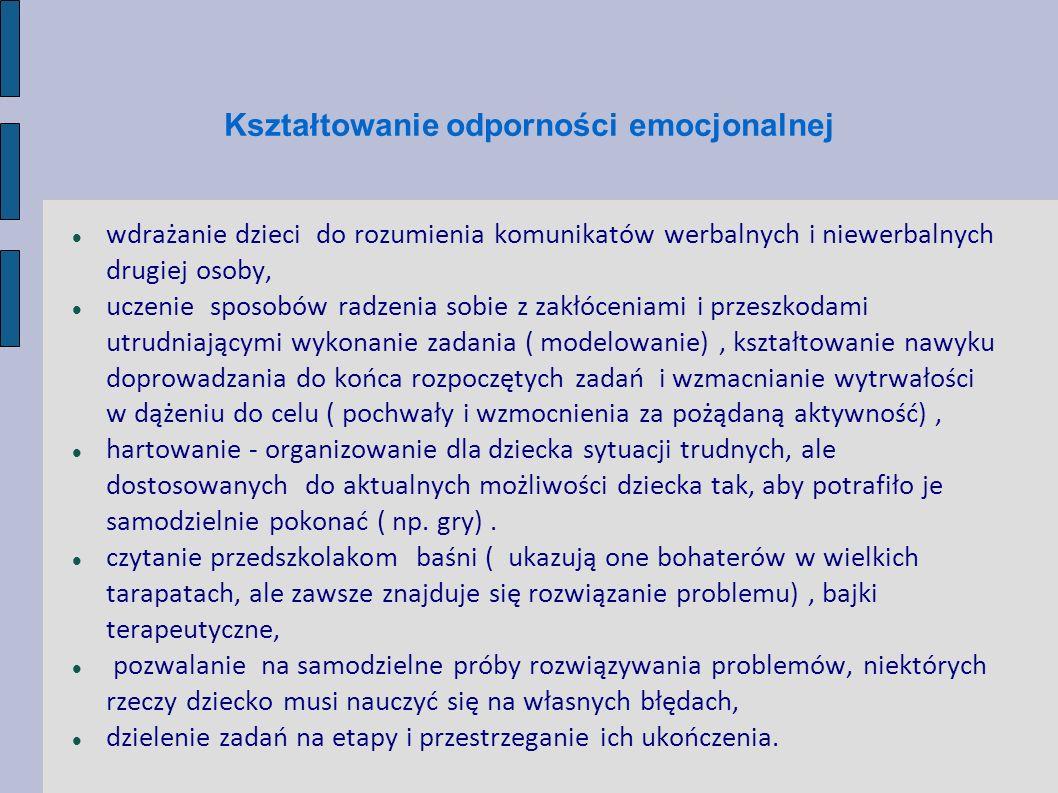 Kształtowanie odporności emocjonalnej
