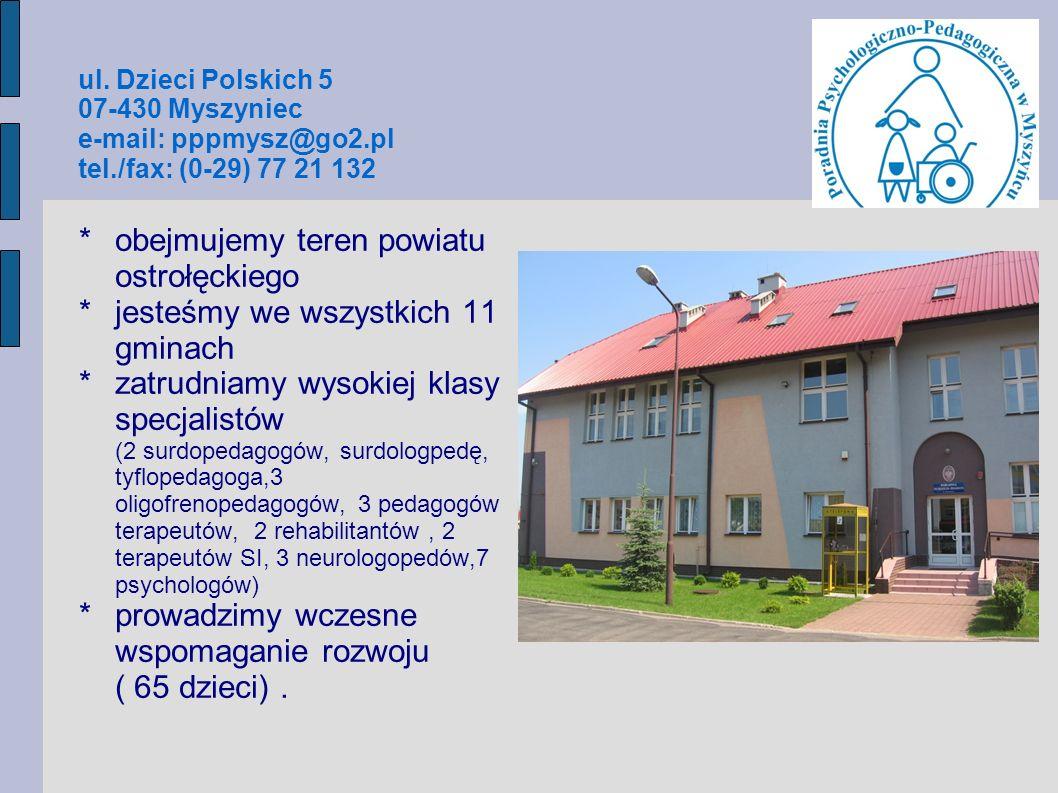 obejmujemy teren powiatu ostrołęckiego