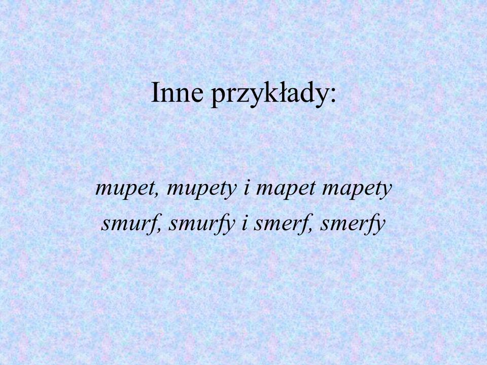 mupet, mupety i mapet mapety smurf, smurfy i smerf, smerfy