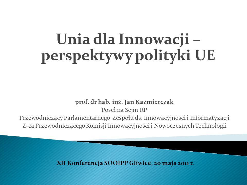 Unia dla Innowacji – perspektywy polityki UE