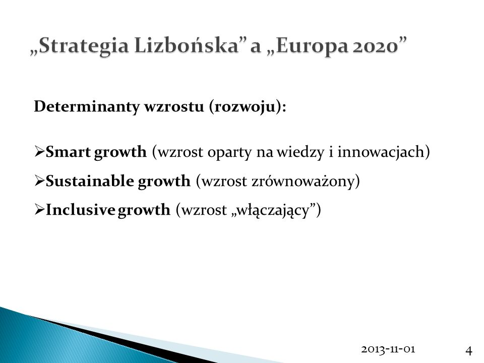 """Strategia Lizbońska a ""Europa 2020"