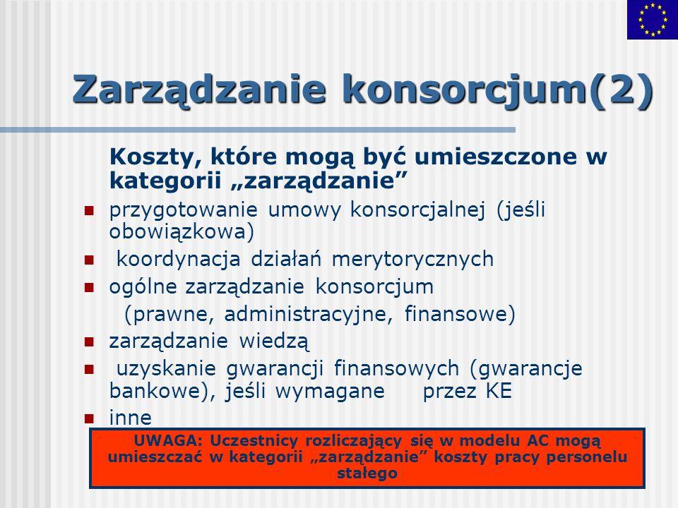 Zarządzanie konsorcjum(2)