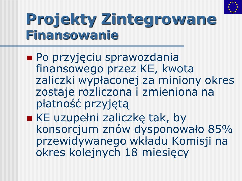 Projekty Zintegrowane Finansowanie