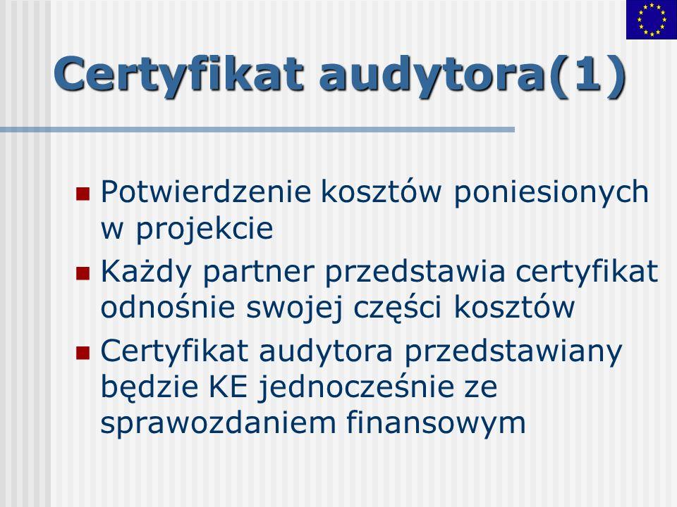Certyfikat audytora(1)