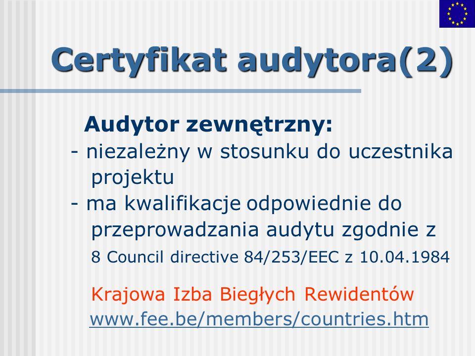 Certyfikat audytora(2)