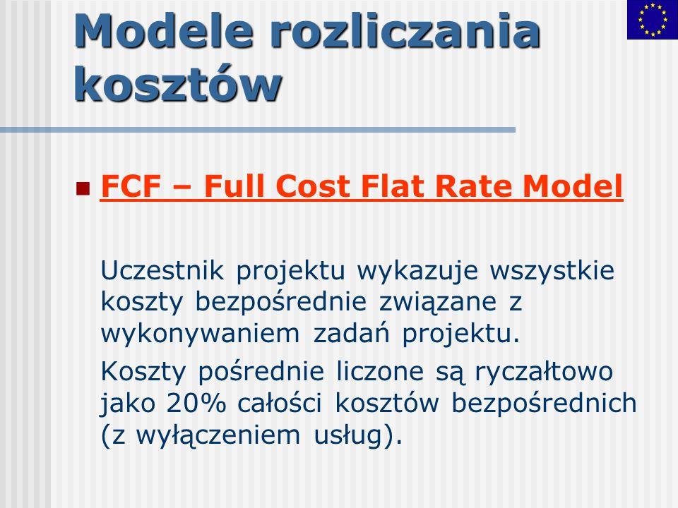 Modele rozliczania kosztów