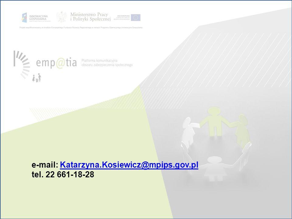 e-mail: Katarzyna.Kosiewicz@mpips.gov.pl