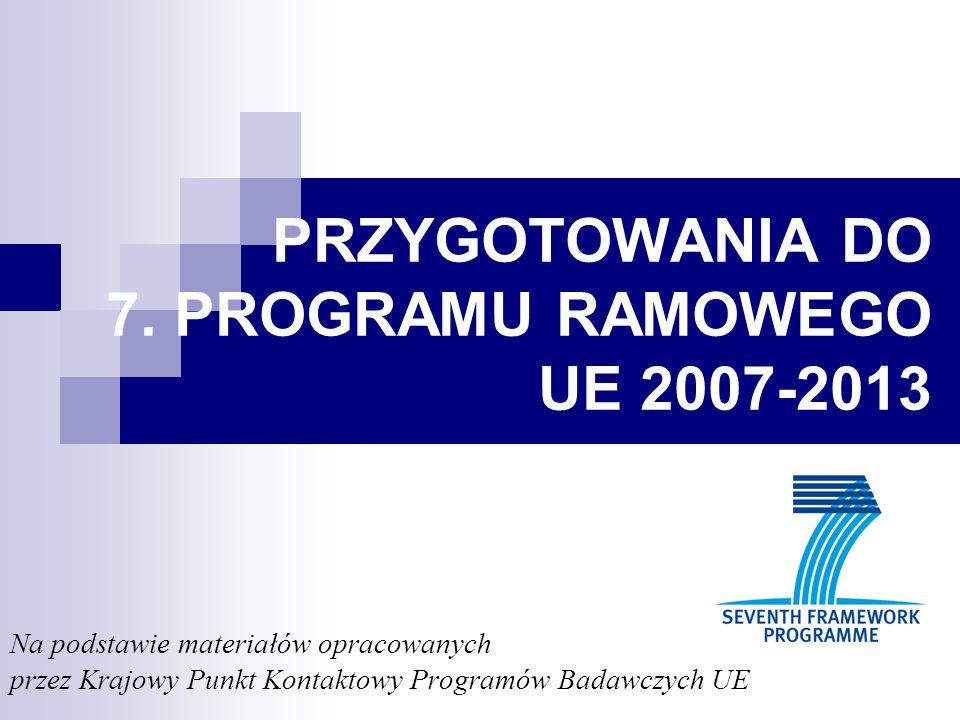 PRZYGOTOWANIA DO 7. PROGRAMU RAMOWEGO UE 2007-2013