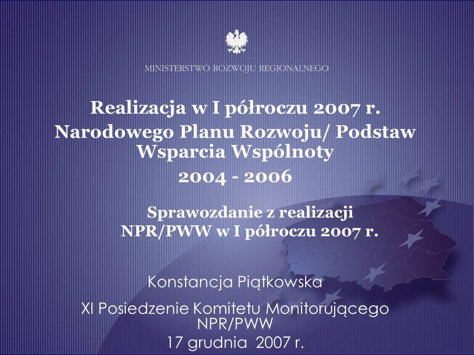 Realizacja w I półroczu 2007 r.