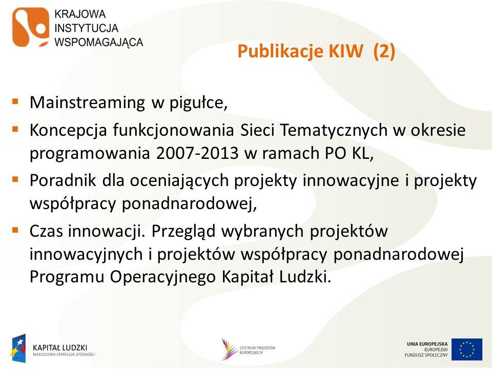 Publikacje KIW (2) Mainstreaming w pigułce,
