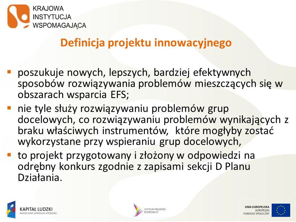 Definicja projektu innowacyjnego