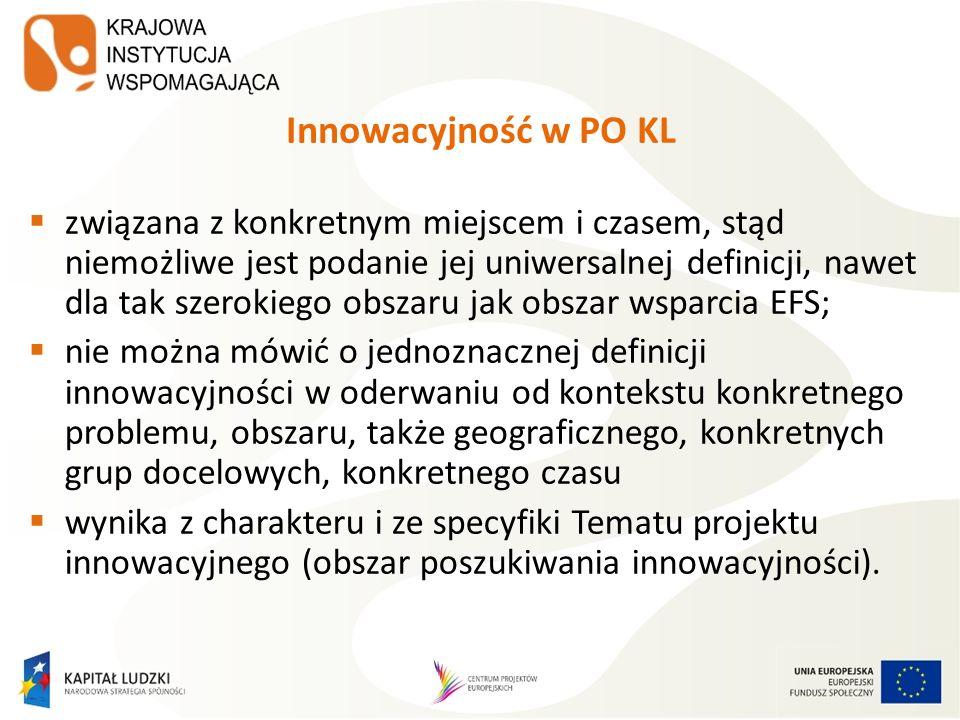 Innowacyjność w PO KL