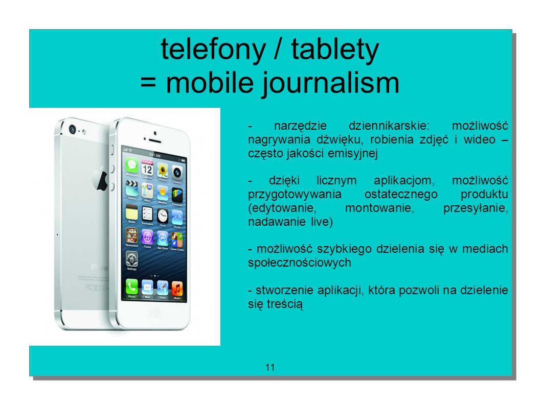 telefony / tablety = mobile journalism