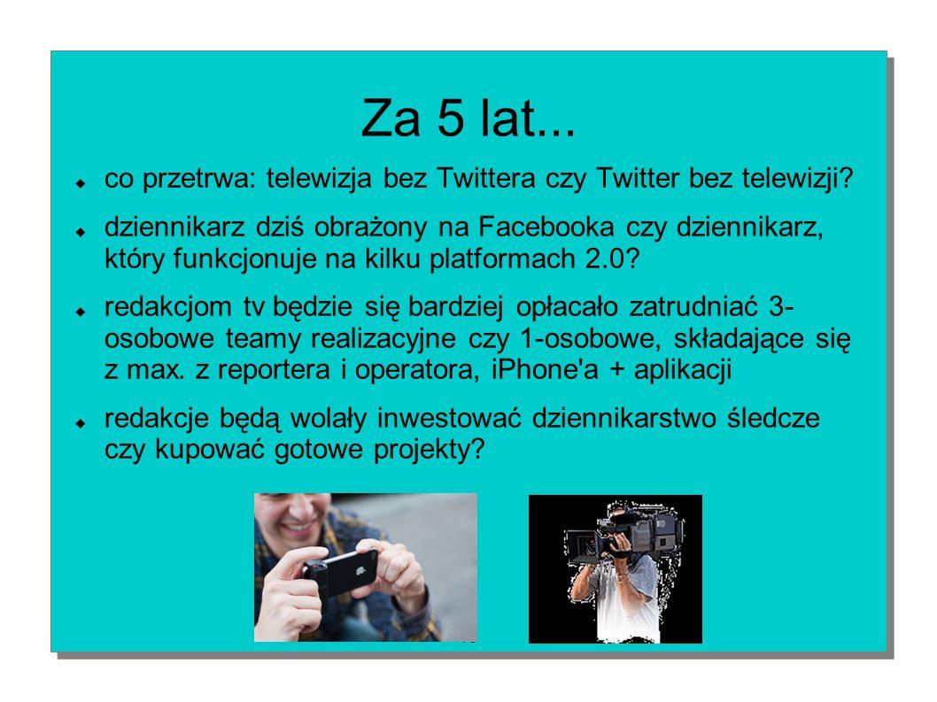 Za 5 lat... co przetrwa: telewizja bez Twittera czy Twitter bez telewizji