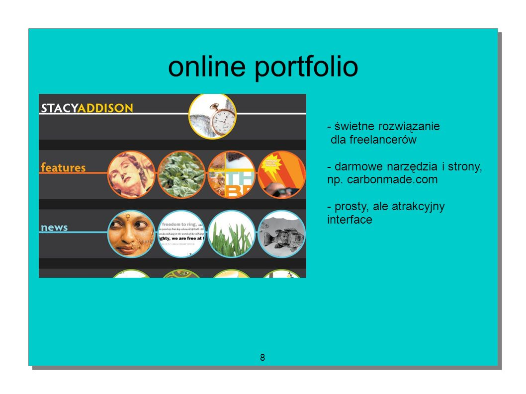 online portfolio - świetne rozwiązanie dla freelancerów