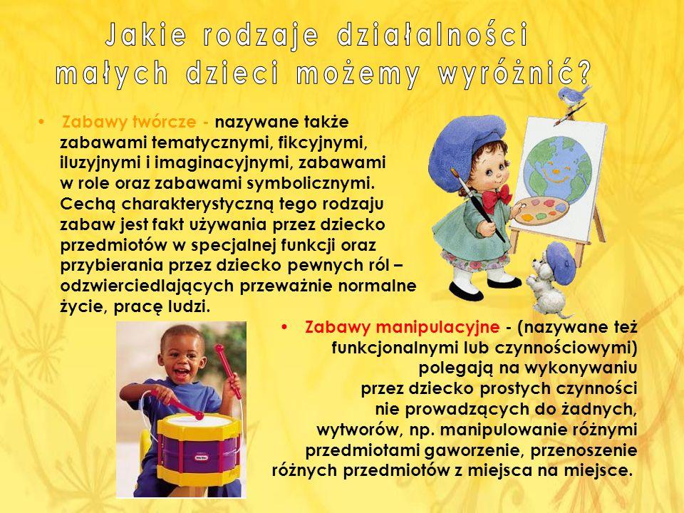 Jakie rodzaje działalności małych dzieci możemy wyróżnić