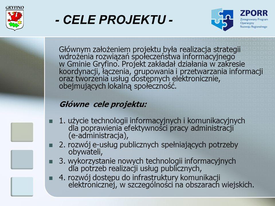 - CELE PROJEKTU - Główne cele projektu: