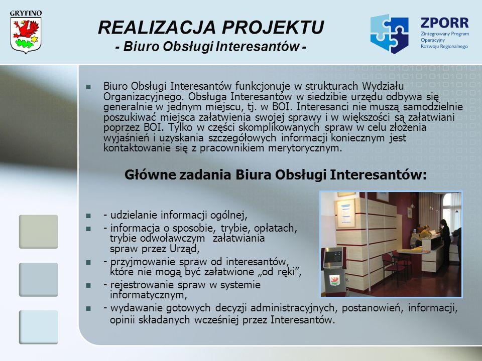 REALIZACJA PROJEKTU - Biuro Obsługi Interesantów -
