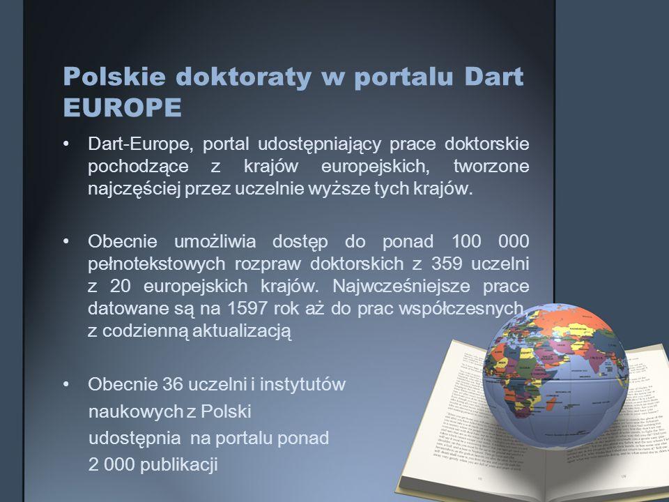 Polskie doktoraty w portalu Dart EUROPE