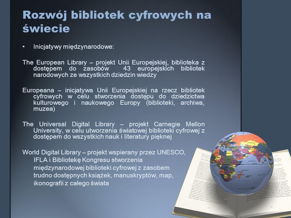 Rozwój bibliotek cyfrowych na świecie