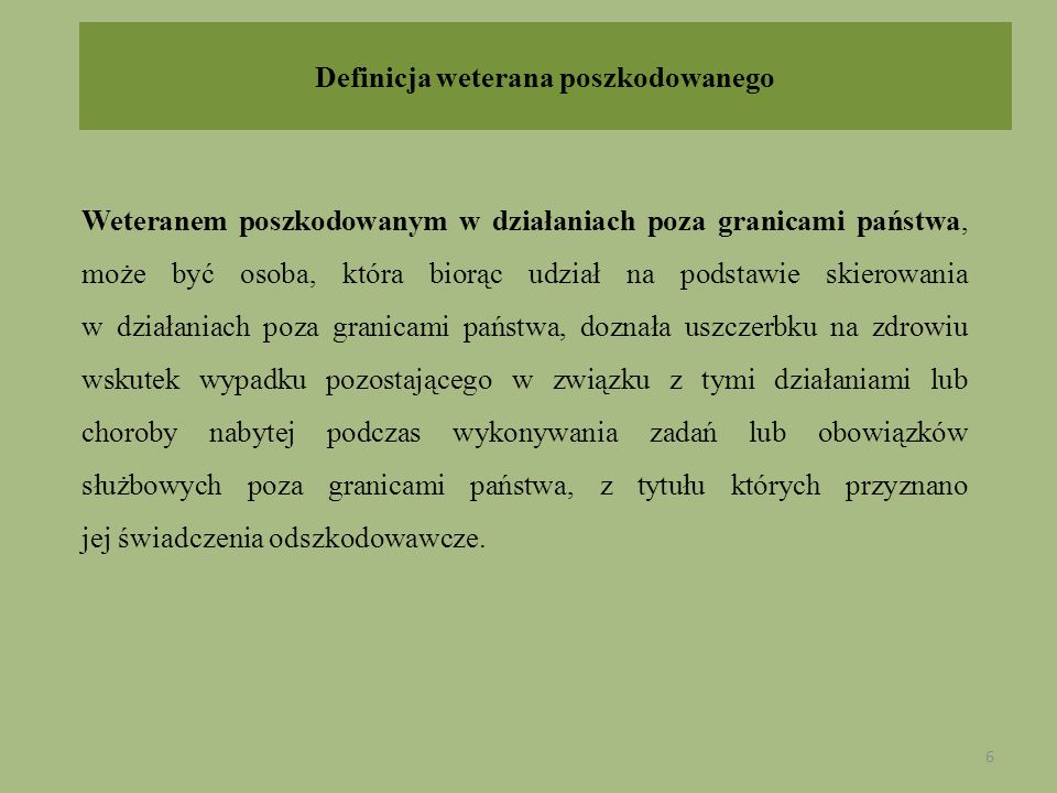 Definicja weterana poszkodowanego