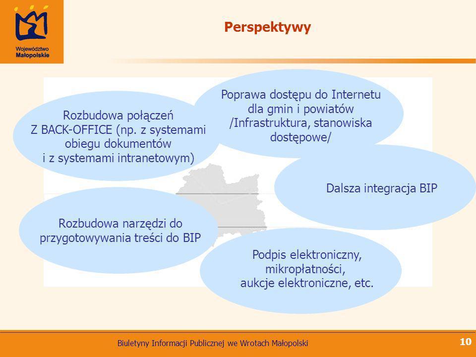 Perspektywy Poprawa dostępu do Internetu dla gmin i powiatów