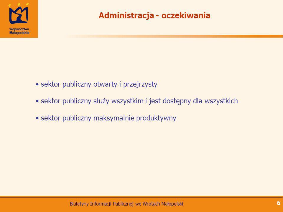 Administracja - oczekiwania