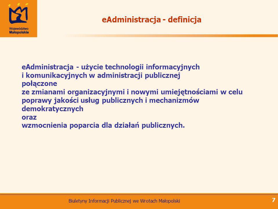 eAdministracja - definicja