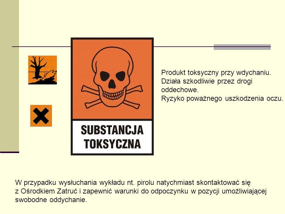 Produkt toksyczny przy wdychaniu.