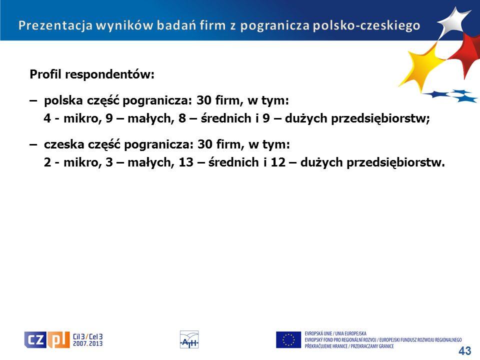 Prezentacja wyników badań firm z pogranicza polsko-czeskiego