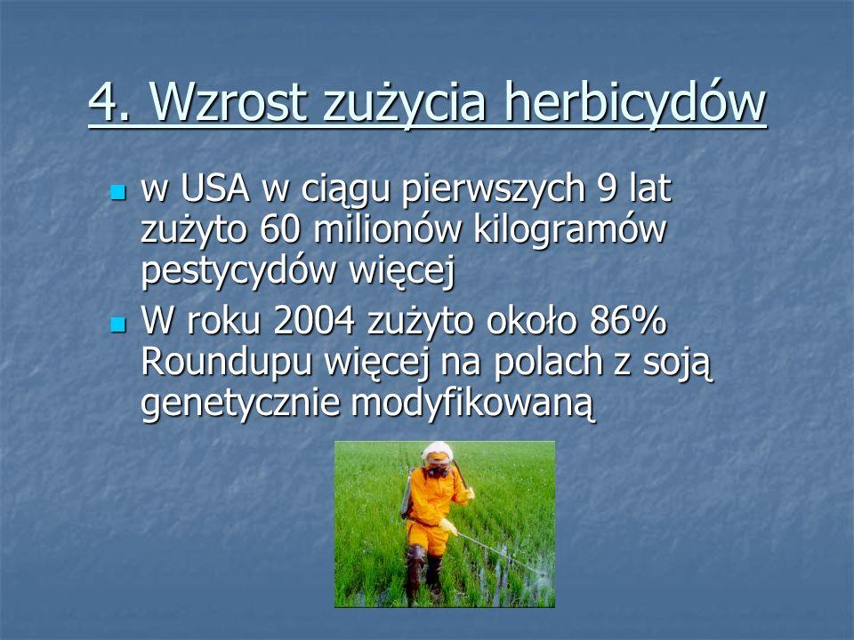4. Wzrost zużycia herbicydów