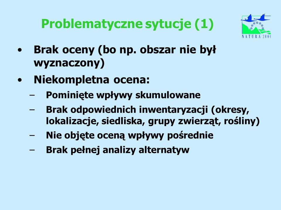Problematyczne sytucje (1)
