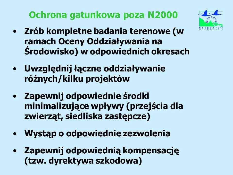 Ochrona gatunkowa poza N2000