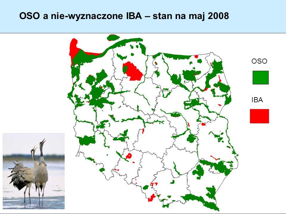 OSO a nie-wyznaczone IBA – stan na maj 2008