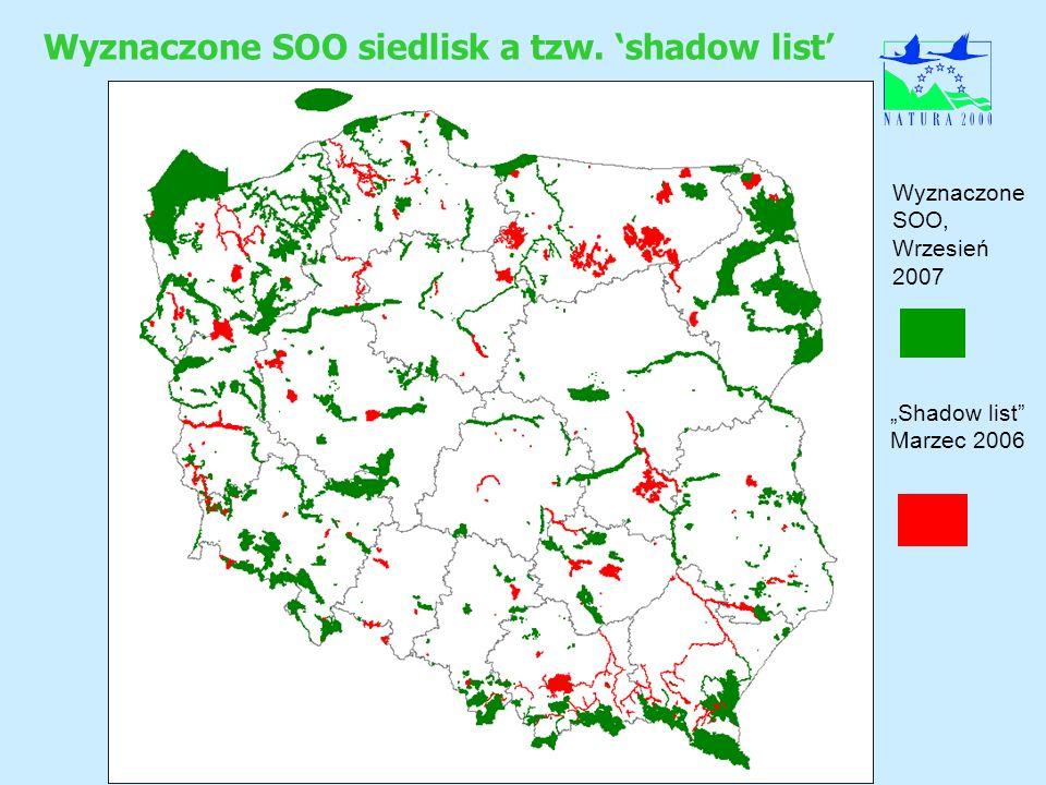 Wyznaczone SOO siedlisk a tzw. 'shadow list'