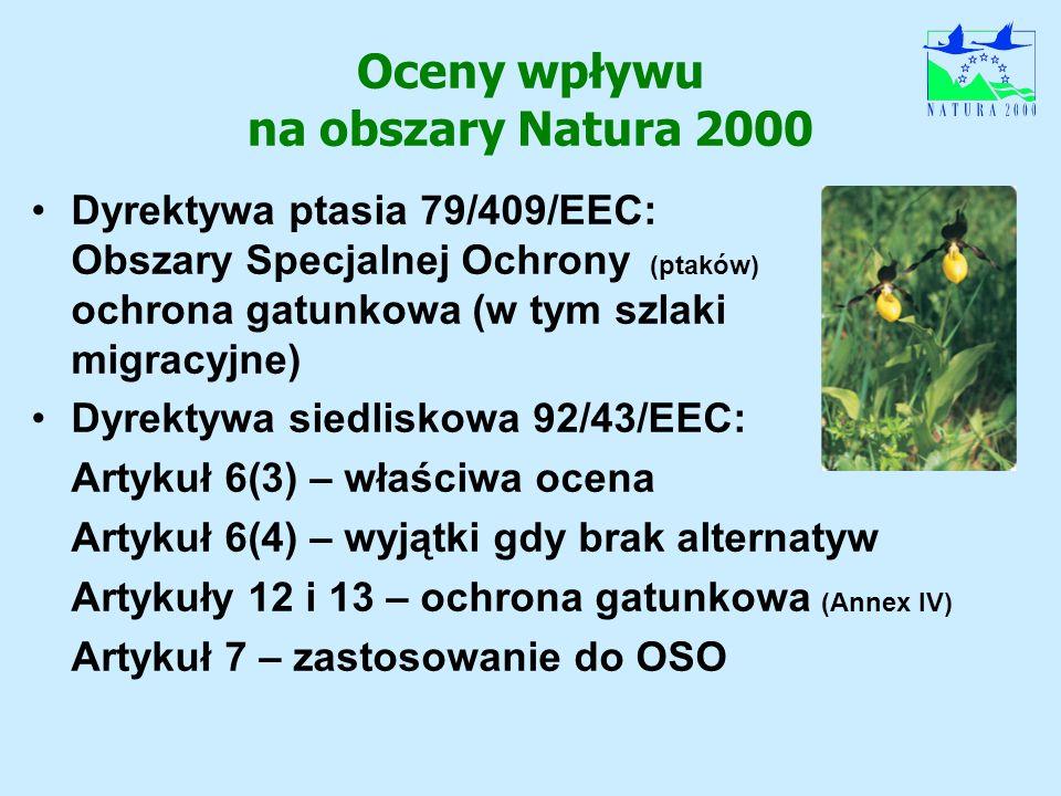 Oceny wpływu na obszary Natura 2000